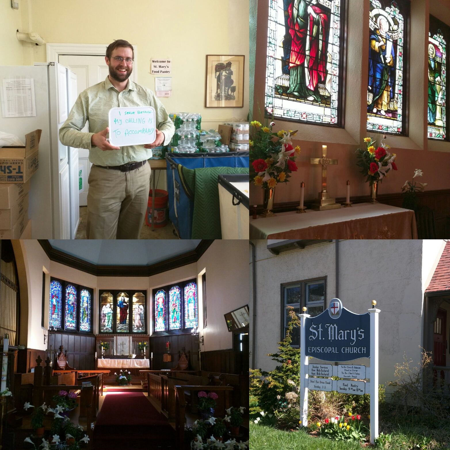 """""""I serve because my calling is to accompany"""" -William Harron, Emmaus Fellow at St. Mary's Episcopal Church in Dorchester"""