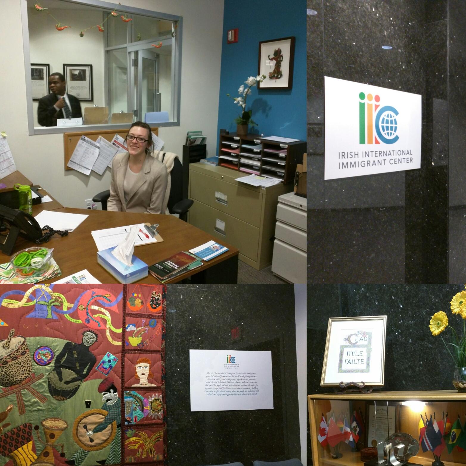 Gabrielle Crossnoe, Micah Fellow at Irish International Immigration Center, Downtown Boston
