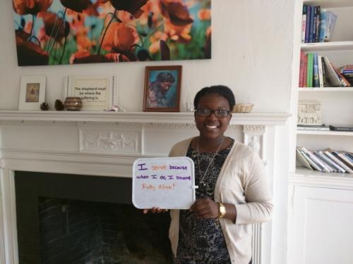 """I serve because when I do, I become fully alive!"" - Hazel Johnson, Bridge Program Coordinator & LT alumna 2011-2013"