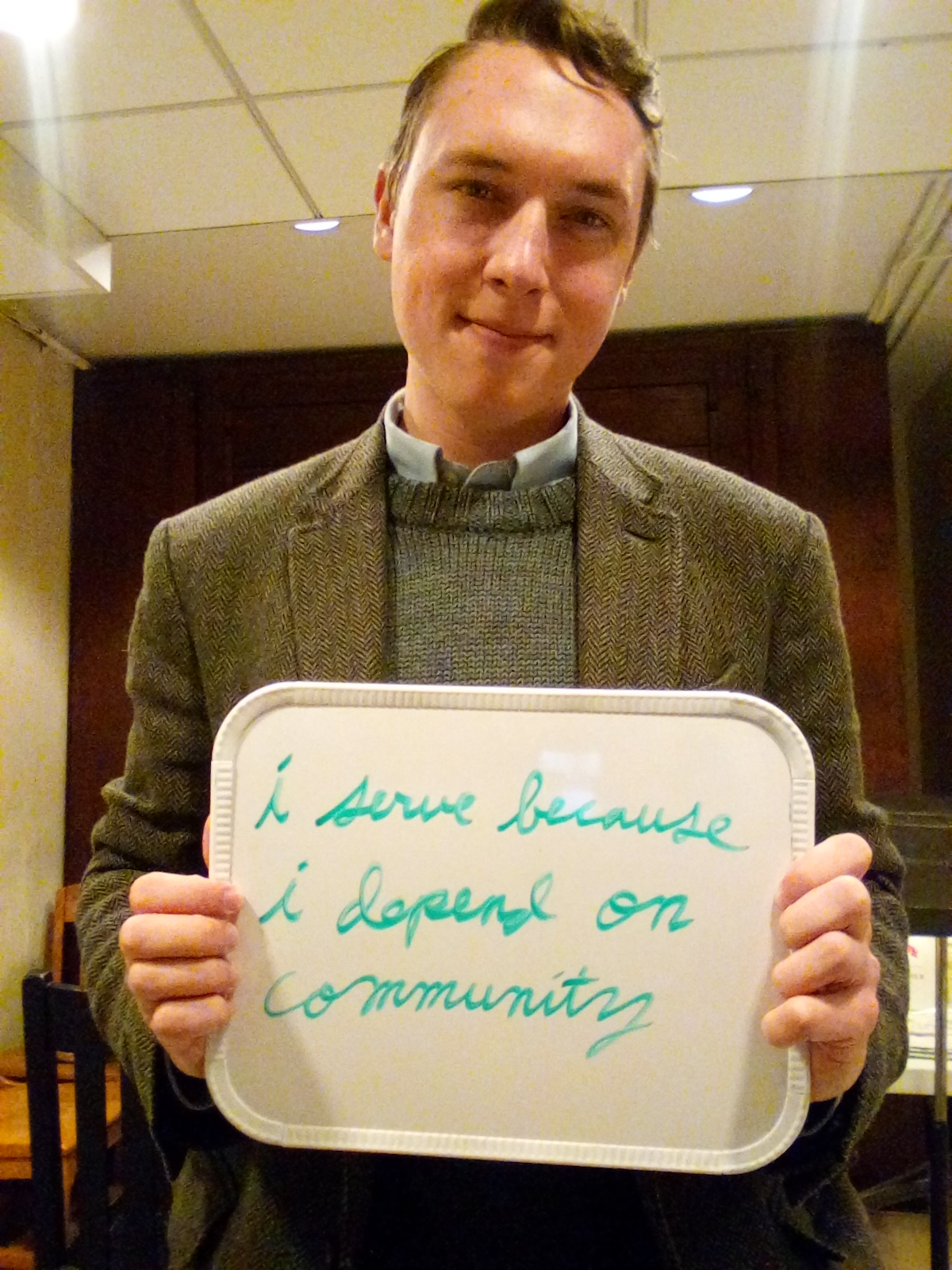 """""""I serve because I depend on community"""" - Paddy Cavanaugh, Micah Fellow at The Crossing & Cambridge Intentional Community"""