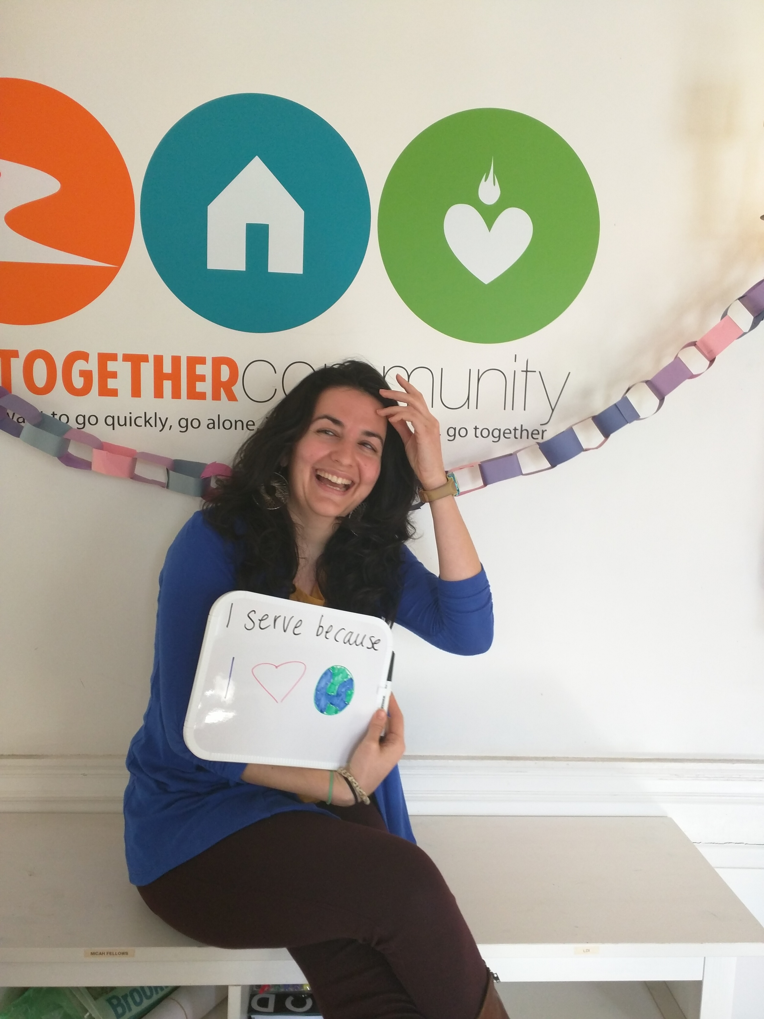 """I serve because I <3 [the world]"" - Rebecca Behizadeh, LT Director of Hiring and Development"