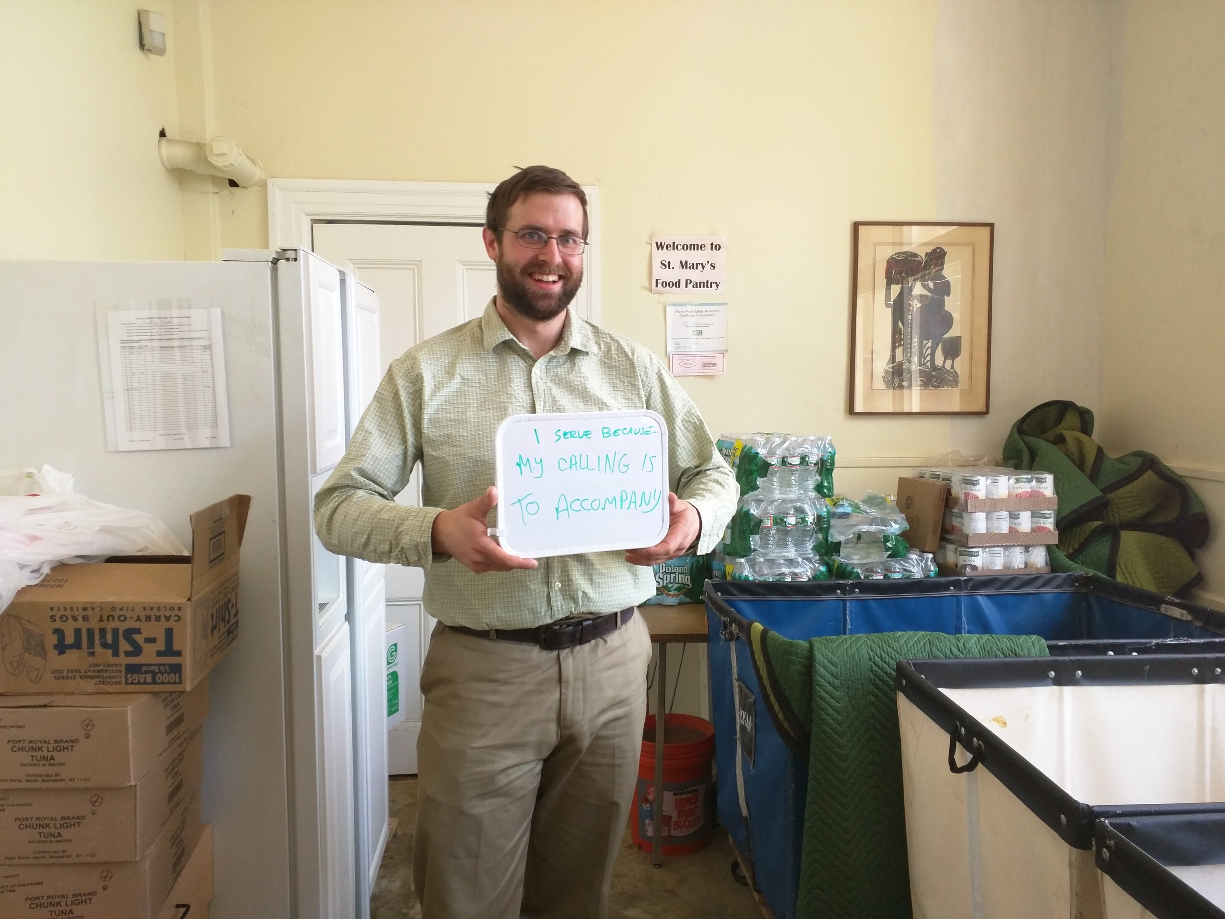 """""""I serve because my calling is to accompany"""" - William Harron, Emmaus Fellow at St. Mary's Episcopal Church in Dorchester & Allston intentional community"""
