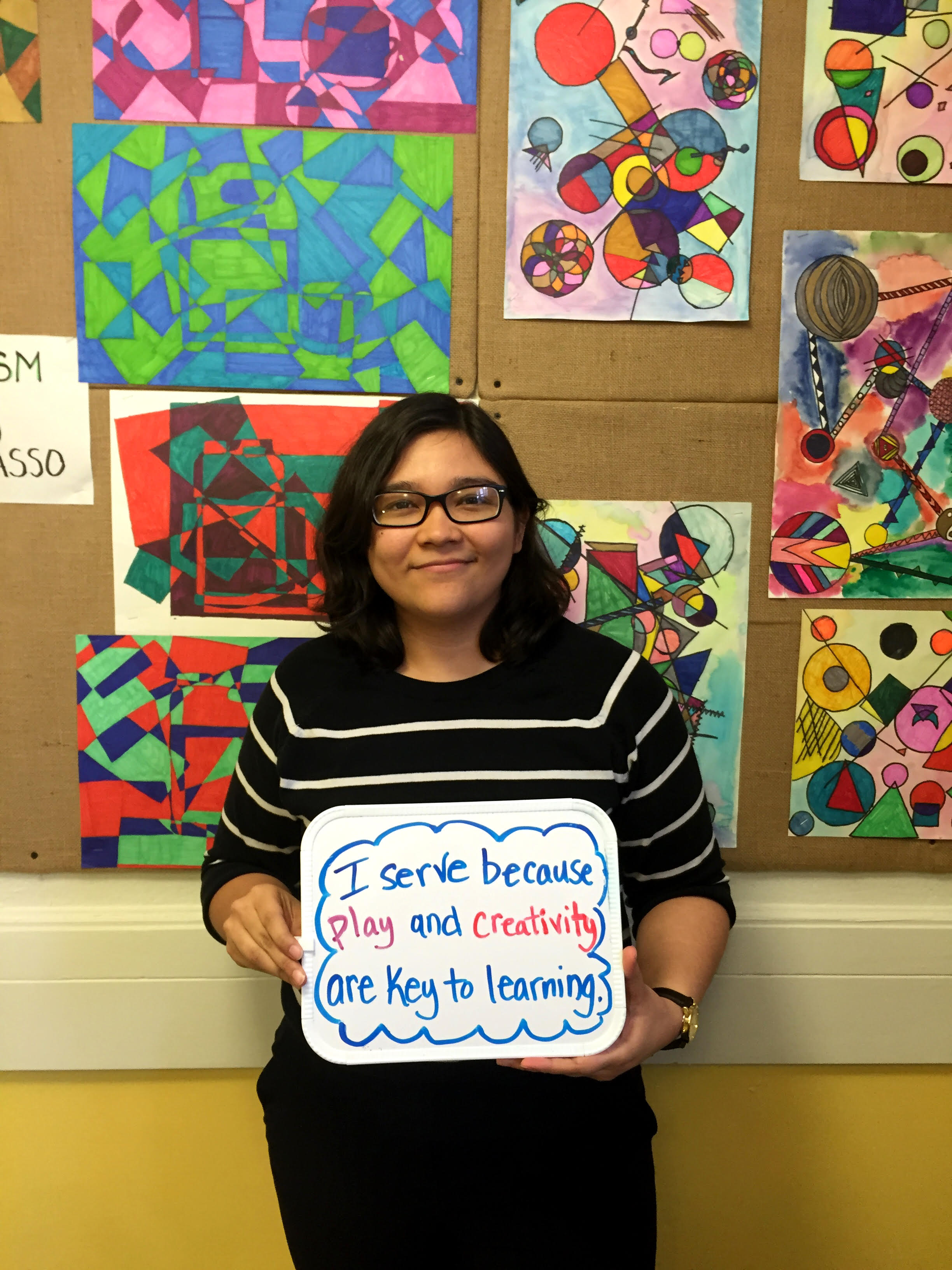 """""""I serve because play and creativity are key to learning"""" - Yuris Martinez, First-Year Esperanza Teaching Fellow at Esperanza Academy & Lawrence Intentional Community"""