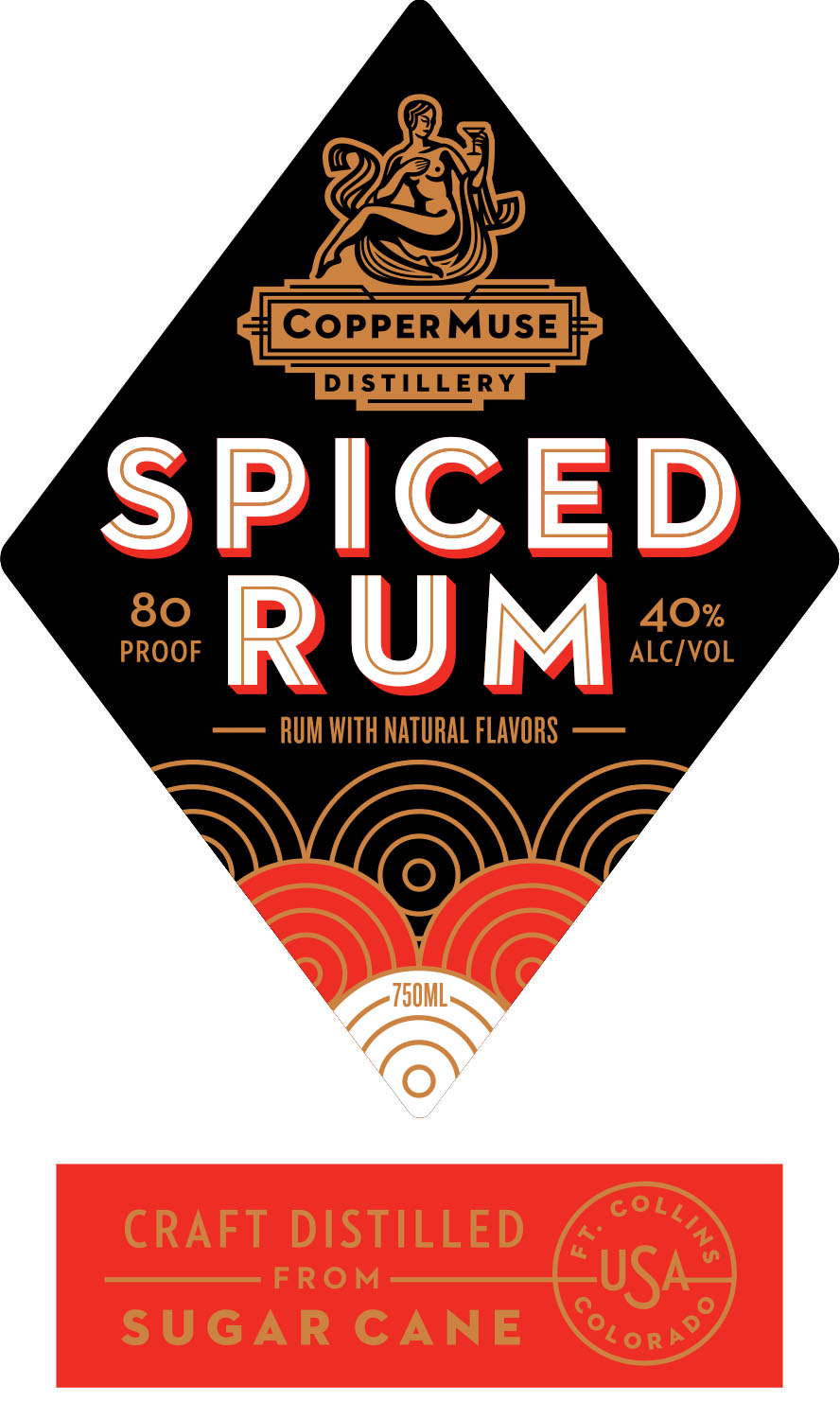 Spiced Rum - Our award-winning Gold Rum is infused with nutmeg, cinnamon, grains of paradise, cloves, vanilla and blood orange zest.