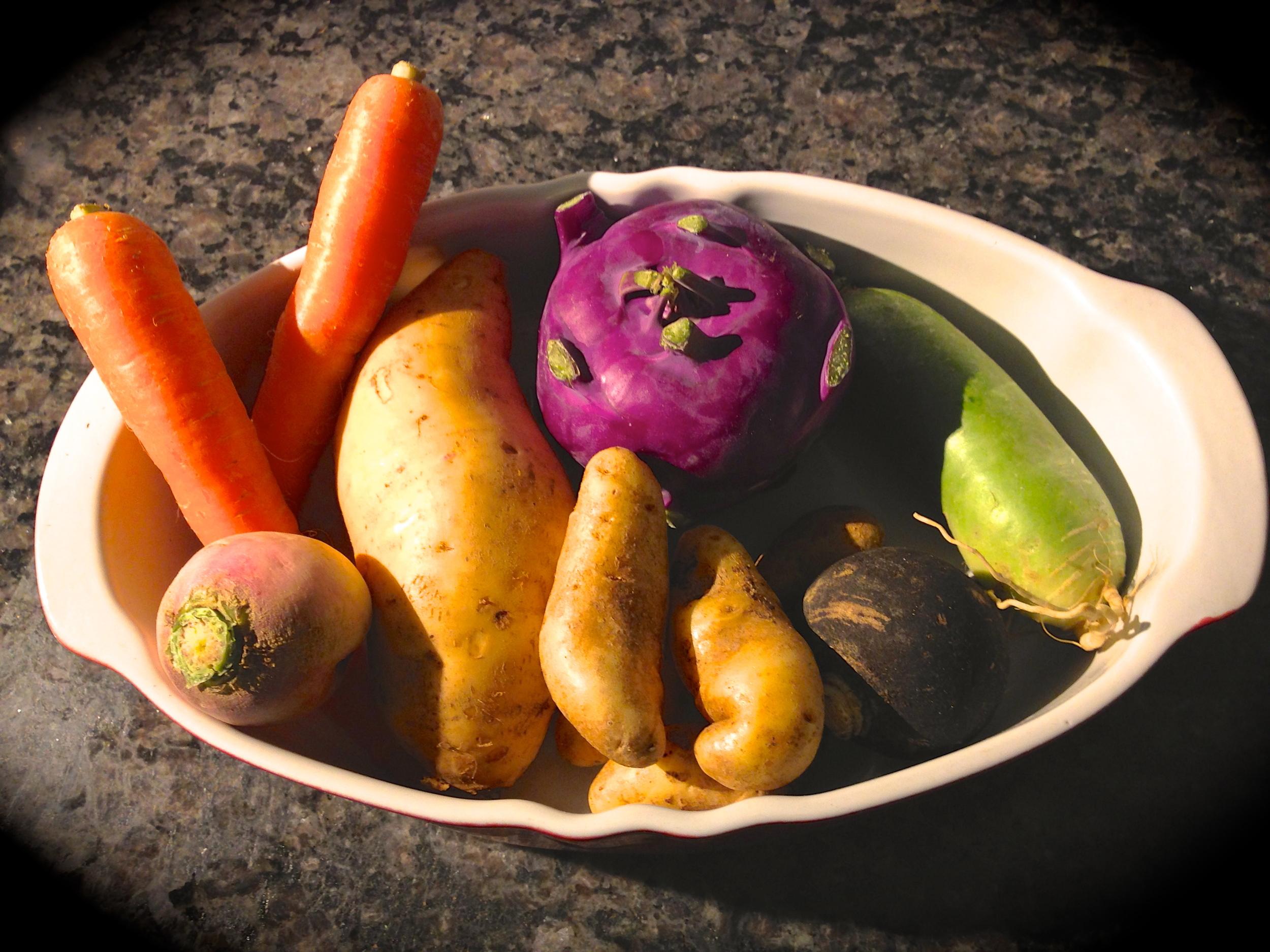 Beautiful organic veggies from  Tap Root Farm !