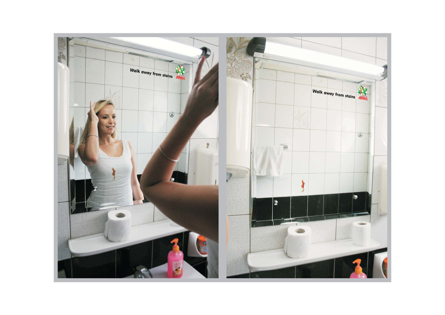 Walk Away from Stains Ambient Mirror Sticker
