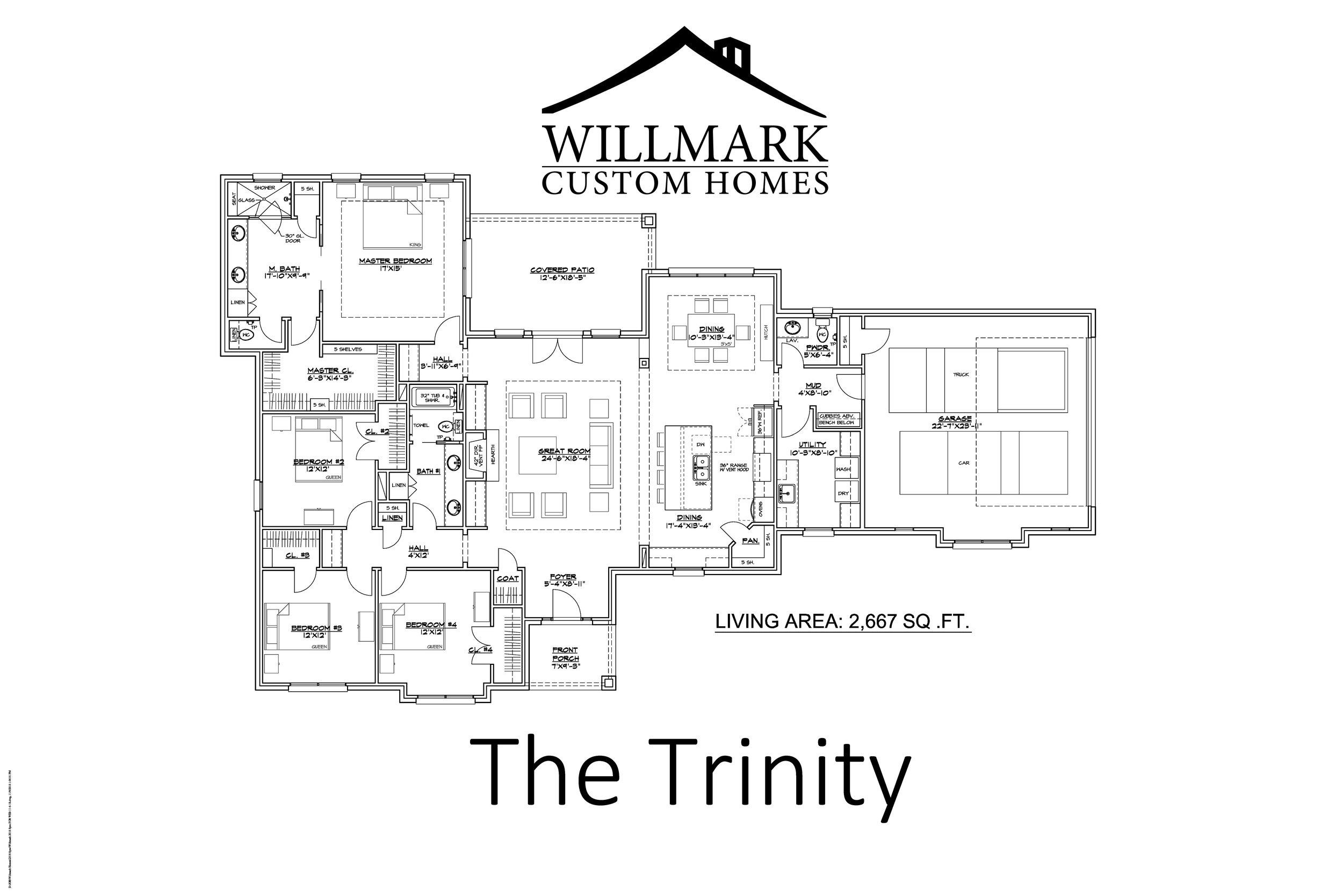 The Trinity 2667 Sq Ft Willmark Custom Homes