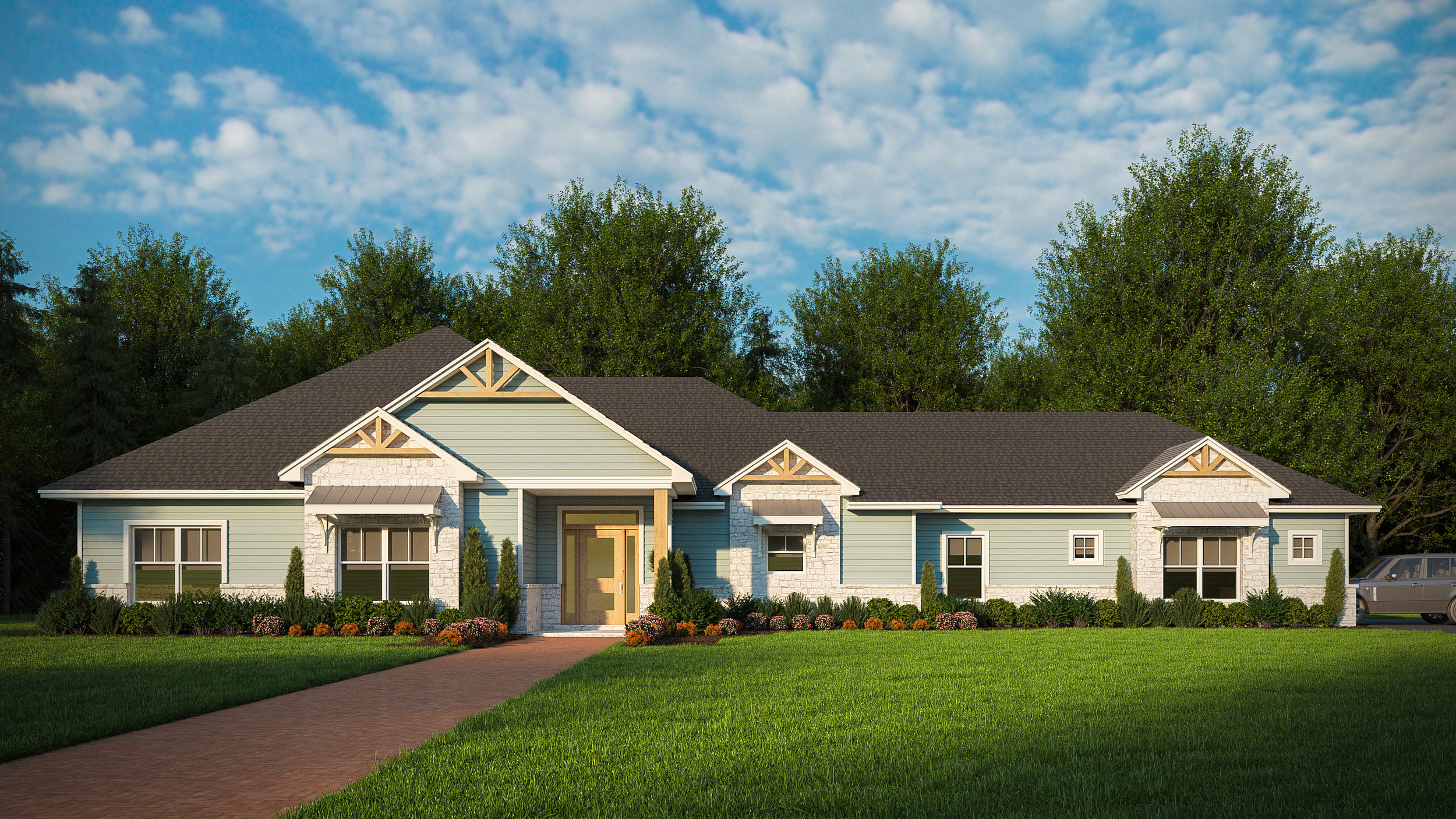 Beds: 4  Baths: 2.5  This plan features 4 bedrooms, 2 and a half bathrooms, an open concept living area with a fireplace, spacious closets, a large utility room and a 2 car garage.   Introductory Pricing $379,450