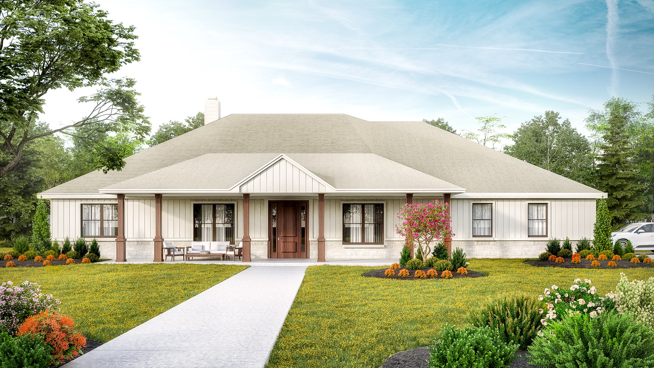 Beds: 4  Baths: 3.5  The Garrison is a 4 bedroom, 3 and a half bath home with a large open living area, a study, a formal dining room, a butler's pantry, spacious utility room and a 2 car garage.   Introductory Pricing $425,450