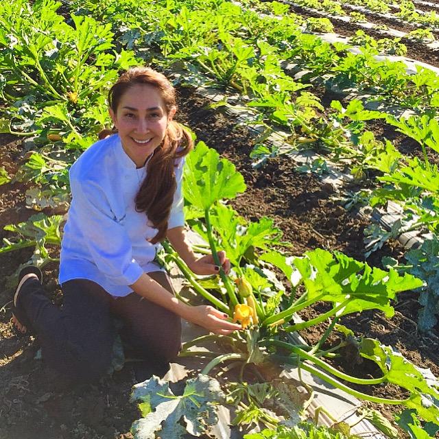 Chef Saifon visits each farm that supplies vegetables to our restaurant.