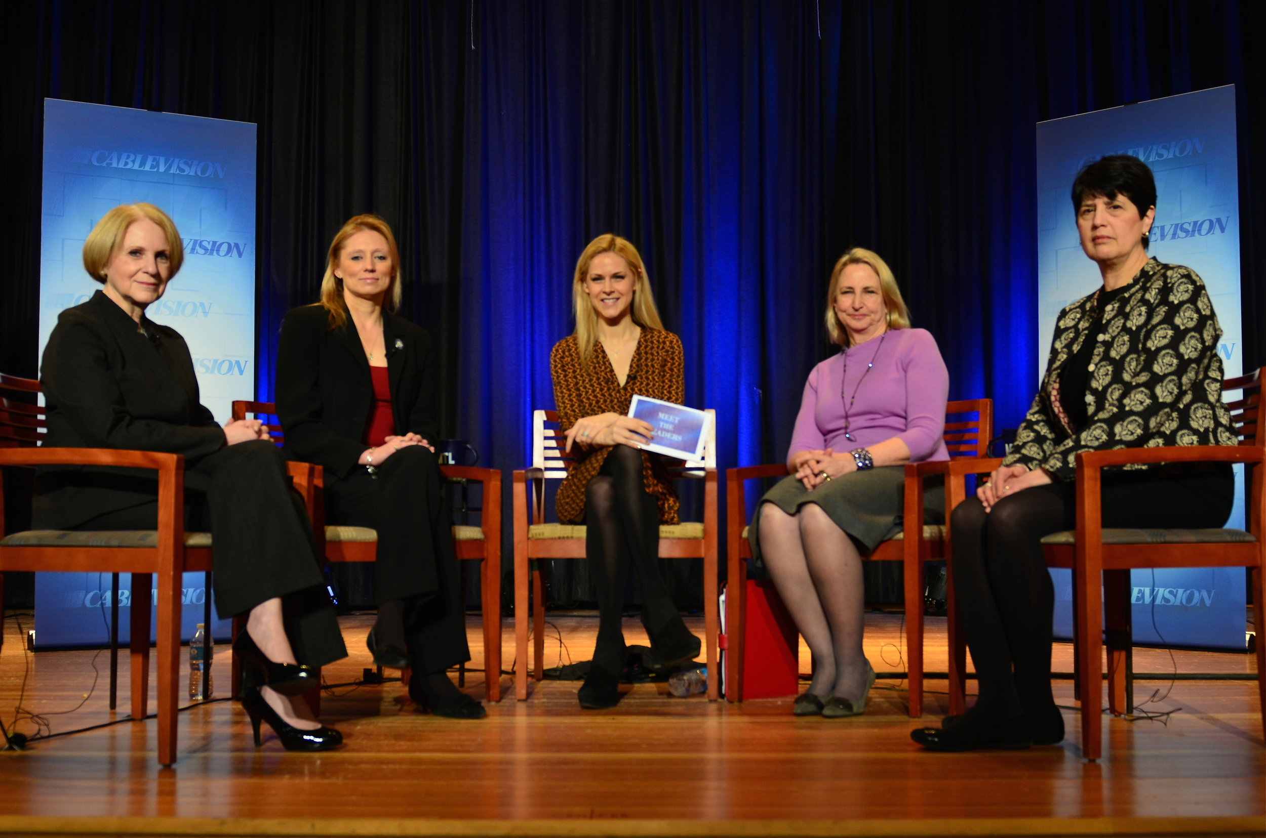 """Moderating Live Taping of """"Meet The Leaders"""""""