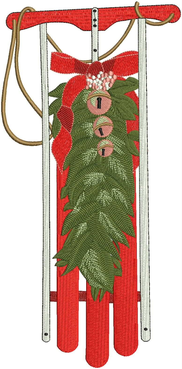 Thumbnail Toboggan with Wreath.JPG