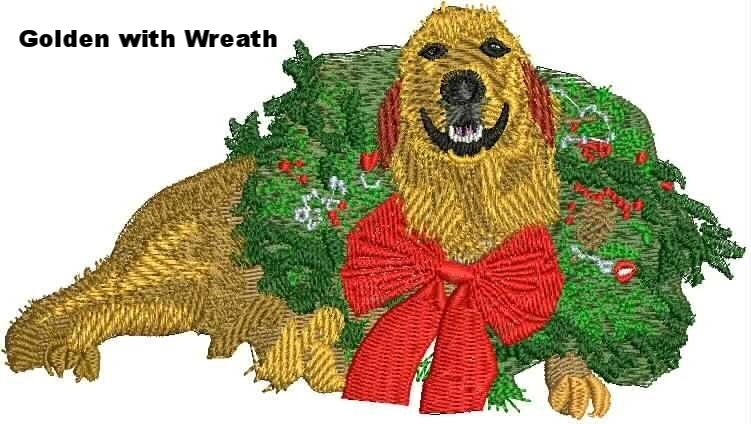 Golden with Wreath