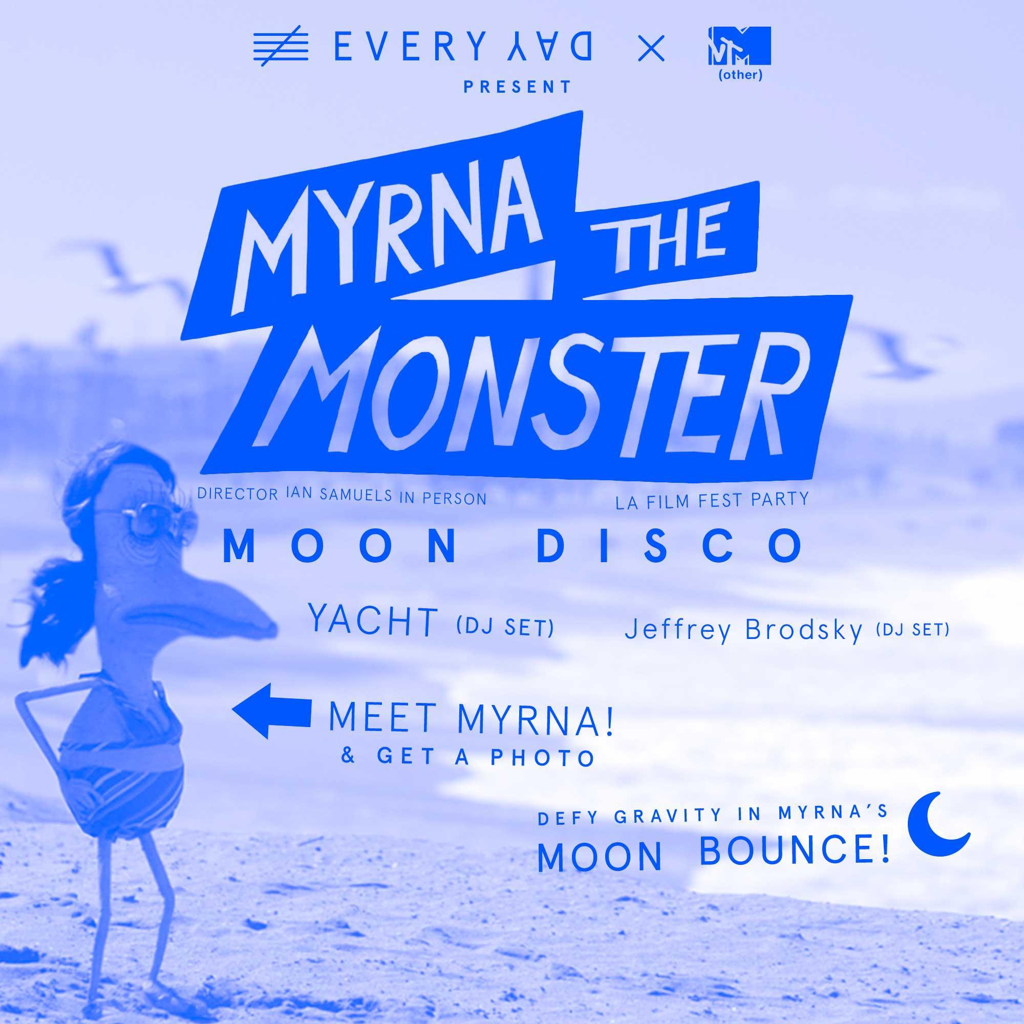 Party for Myrna the Monster short film. Original score by Jeffrey Brodsky, Jona Bechtolt, and Robert Kieswetter.