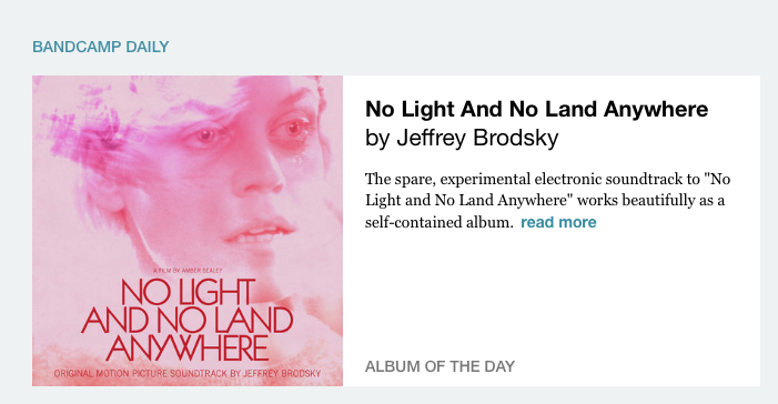 Bandcamp named my movie soundtrack Album Of The Day. Thanks Bandcamp!