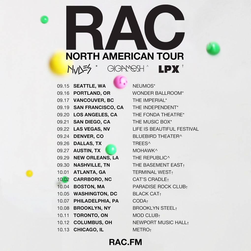 Heading out on tour playing drums in RAC this fall. Come say hi!