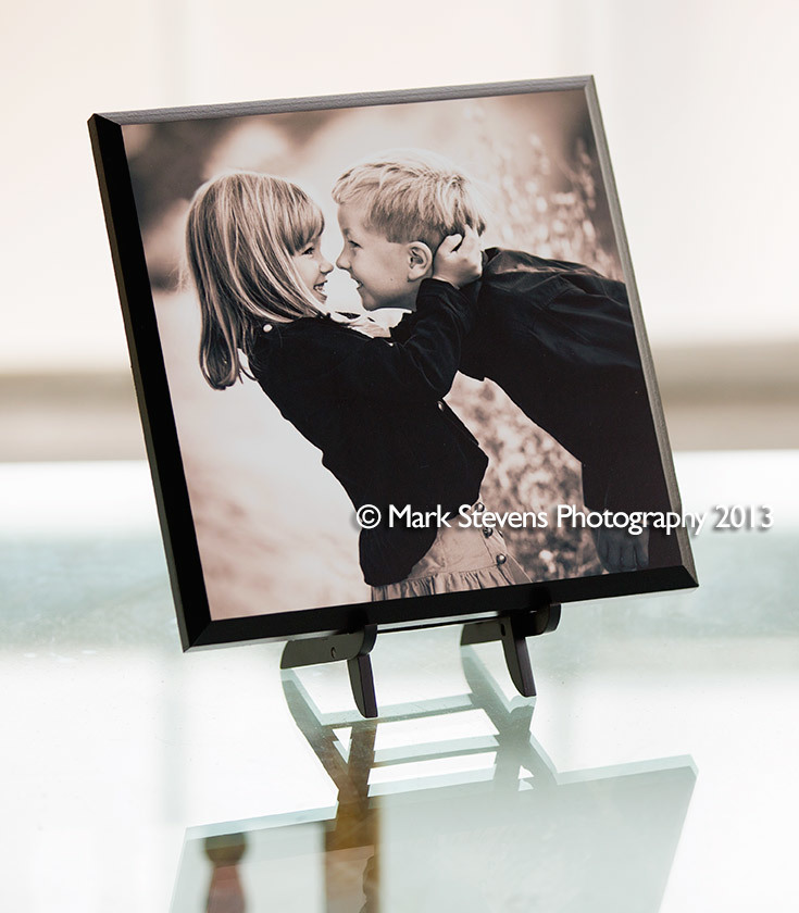 a tabletop gallery mount
