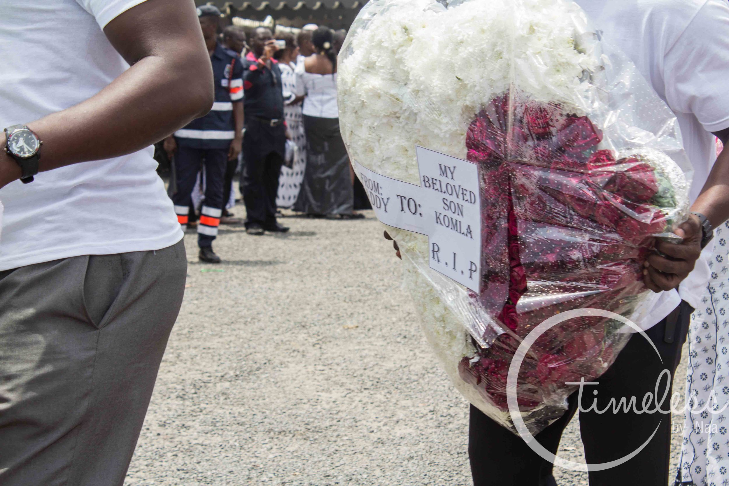 Wreath from Prof. Dumor to his son.