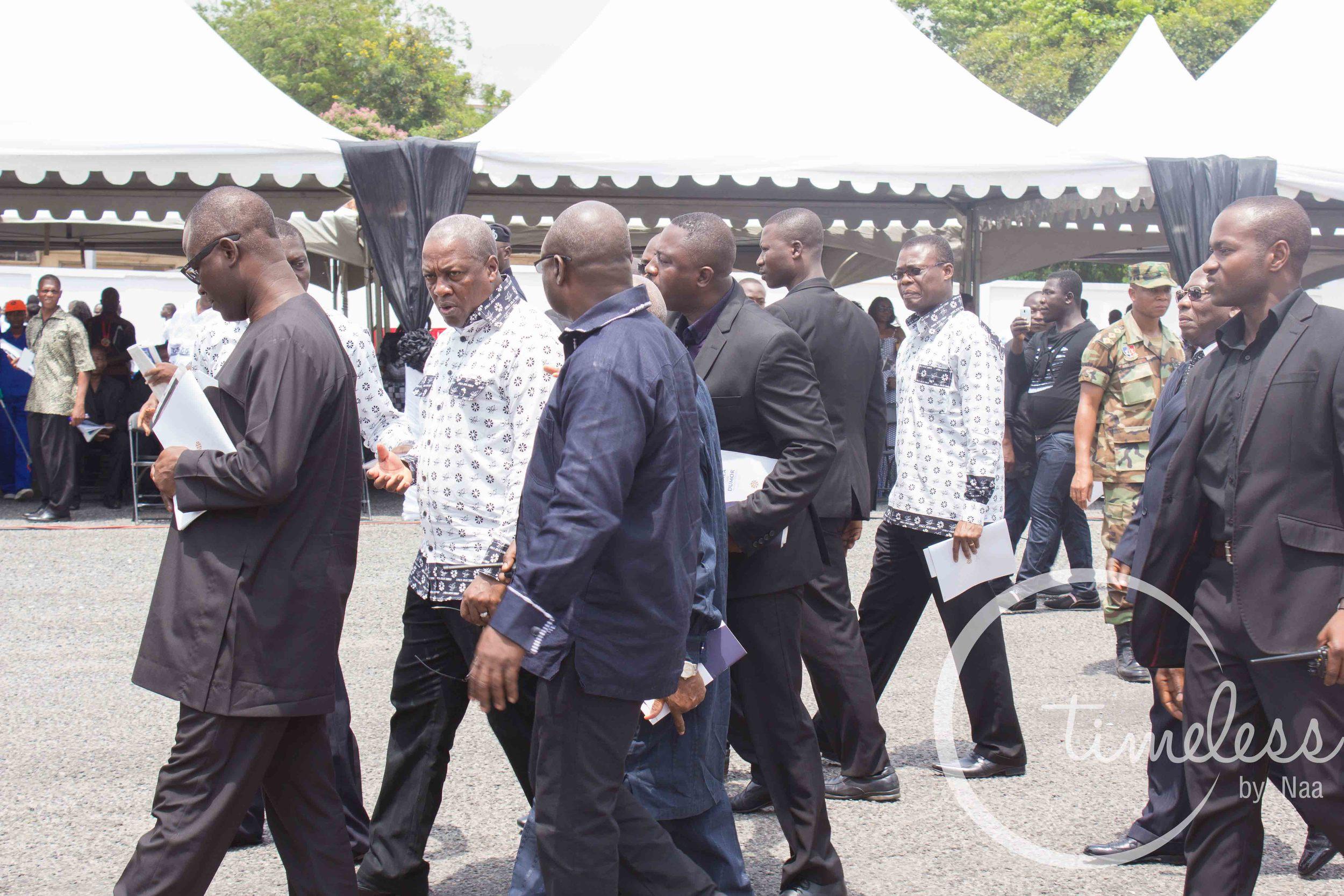 President John Mahama at Komla Dumor's burial service.