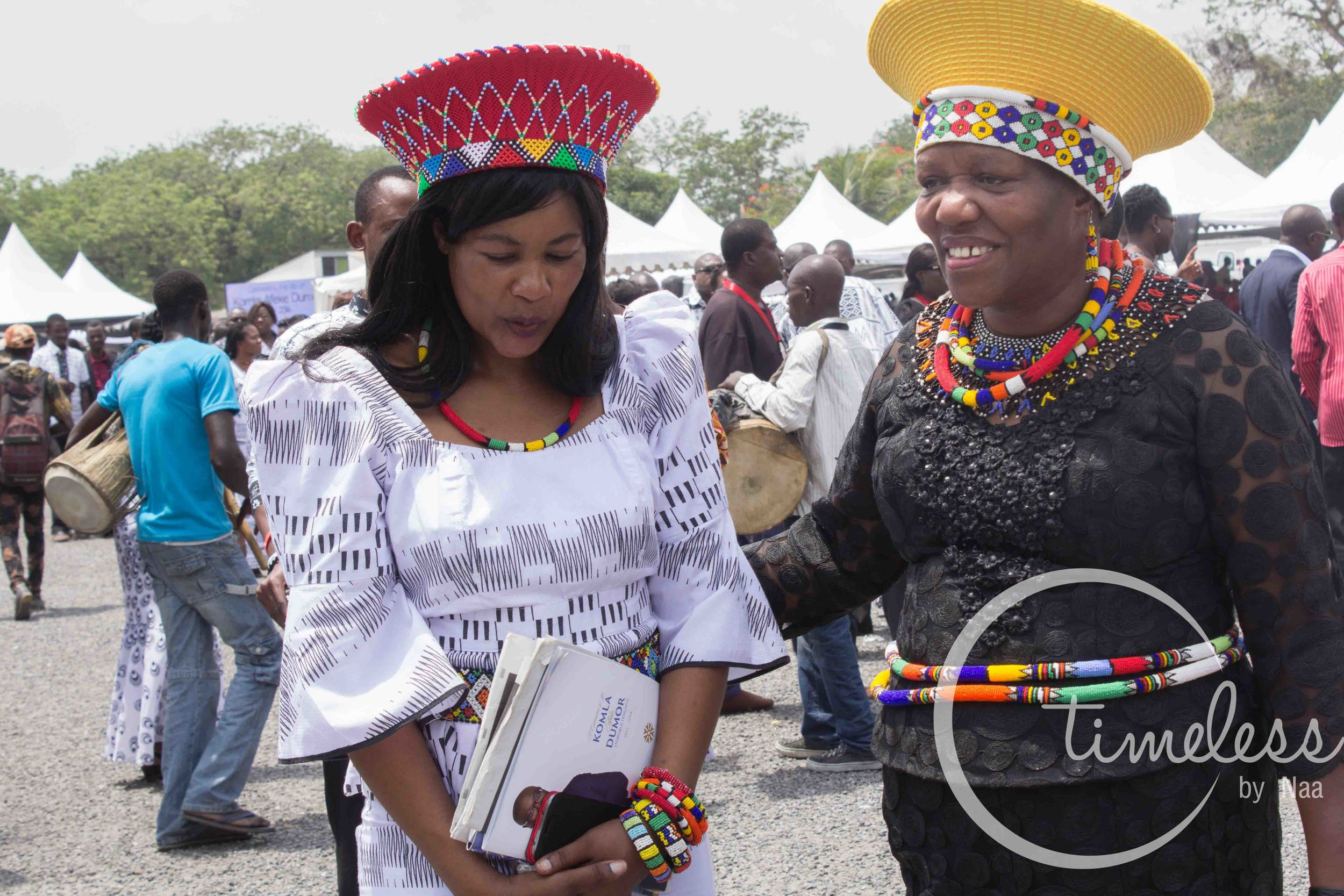 South African High Commissioner- Jeanette Ndhlovu(left)