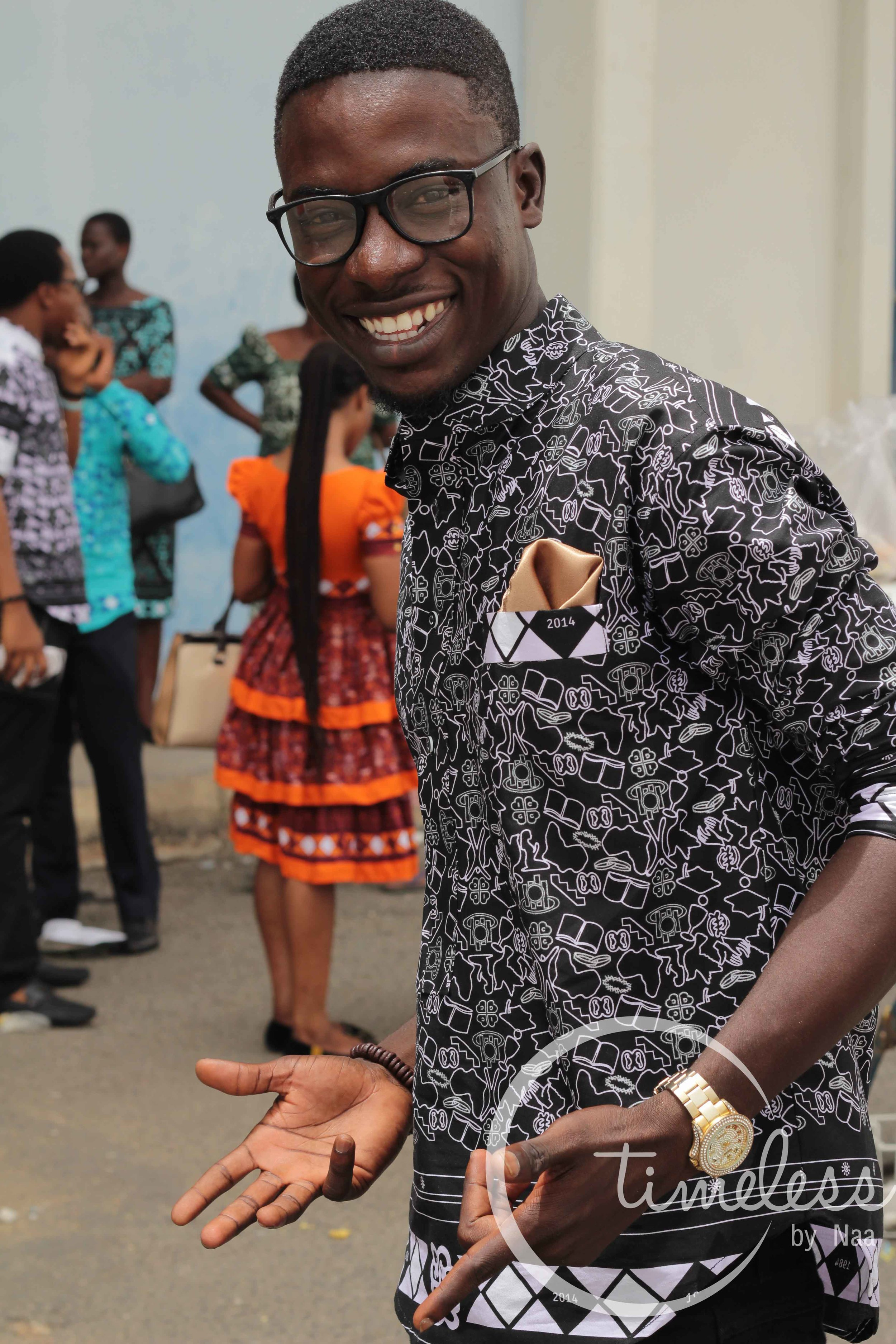 Emmanuel Bekoe feeling all swag
