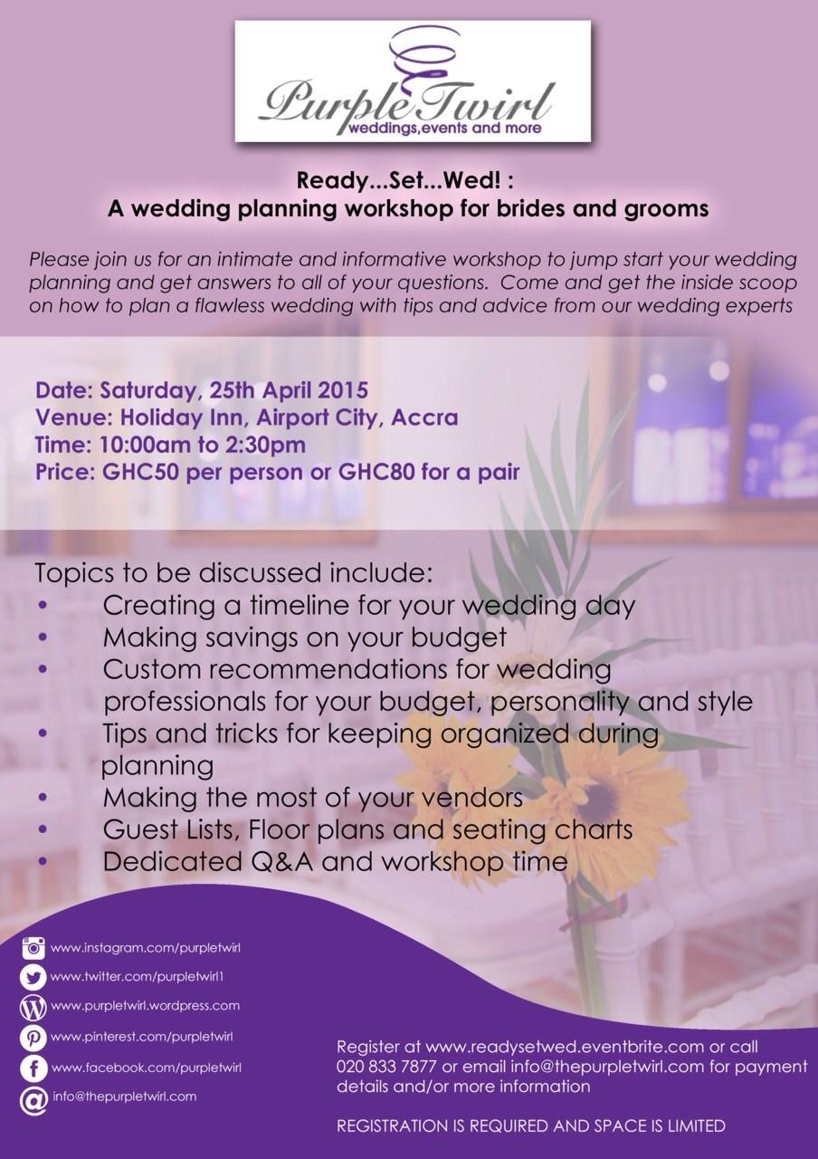wedding workshop poster