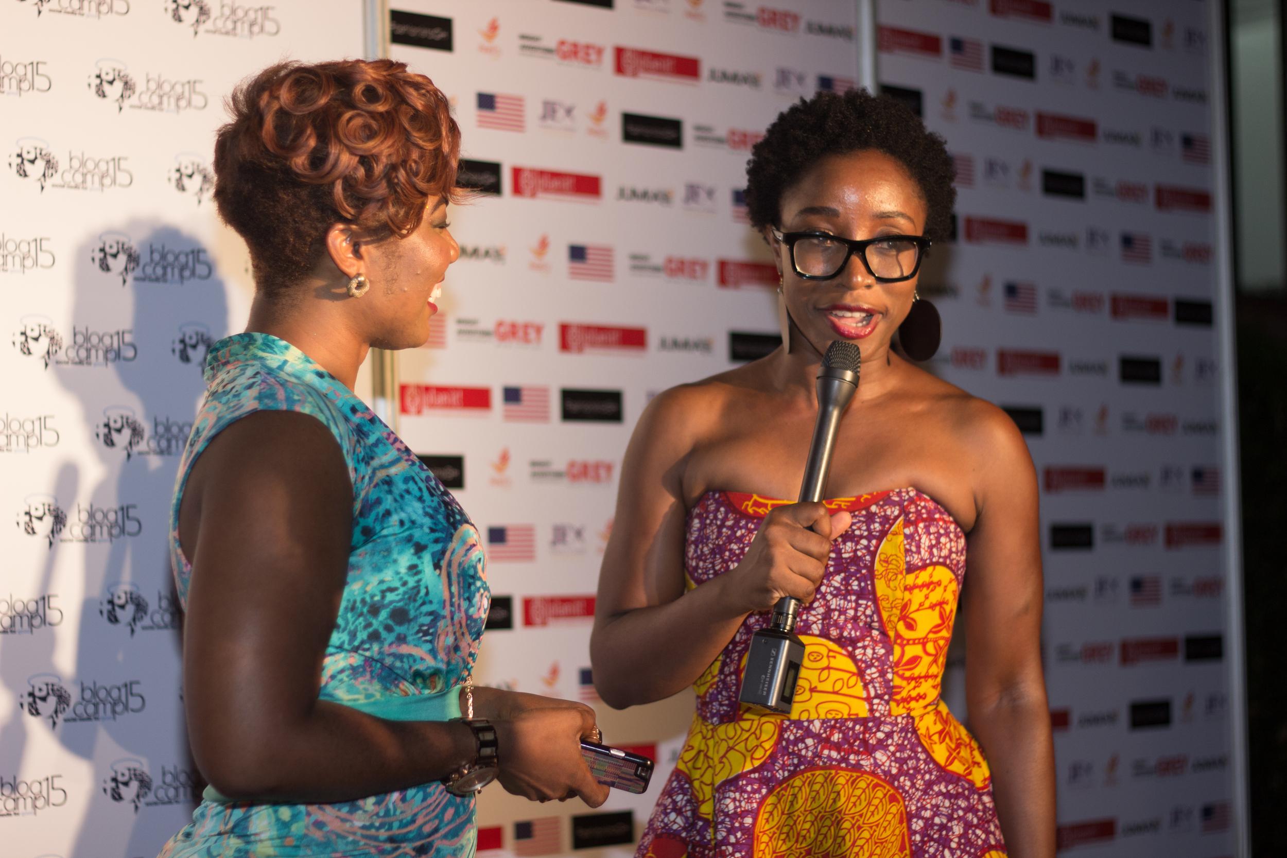 Red Carpet Interview of MC for the night,Bridget Otoo, TV3