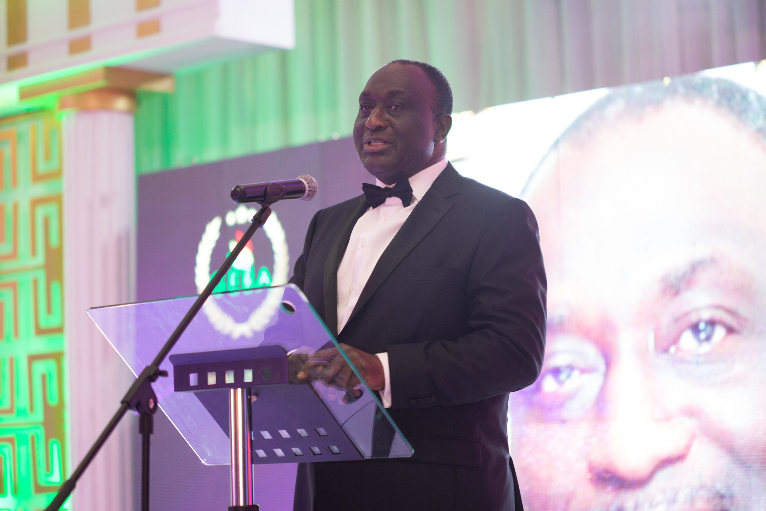 Hon. Alan Kyeremanteng delivering his speech at the awards