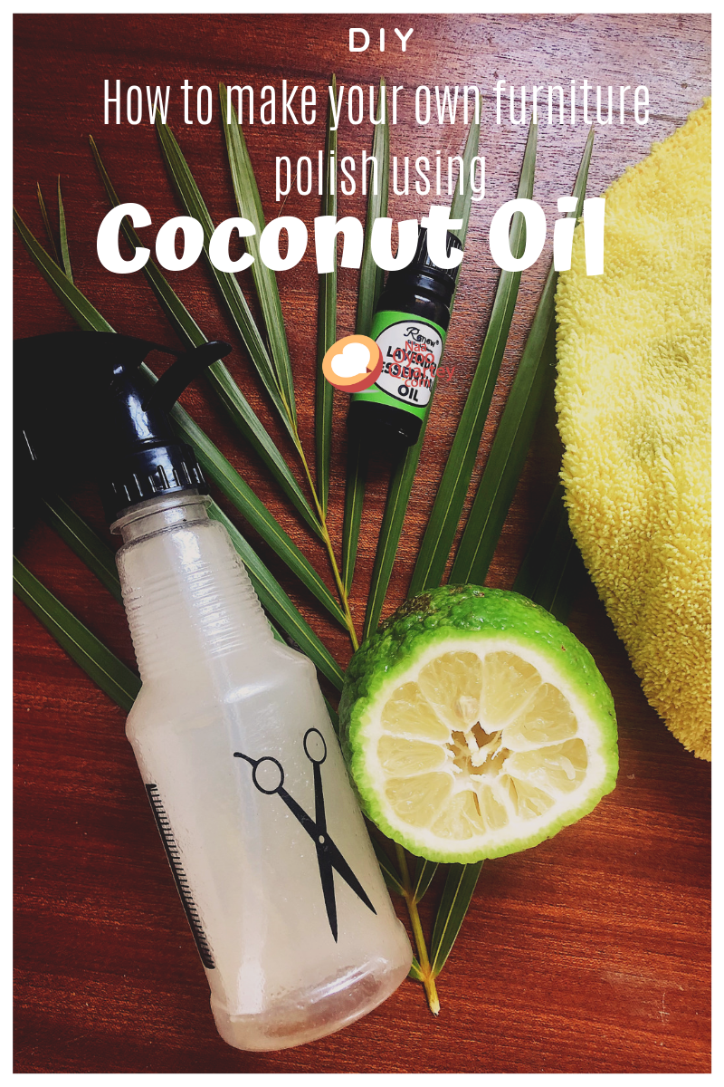 How to make your own furniture polish using coconut oil
