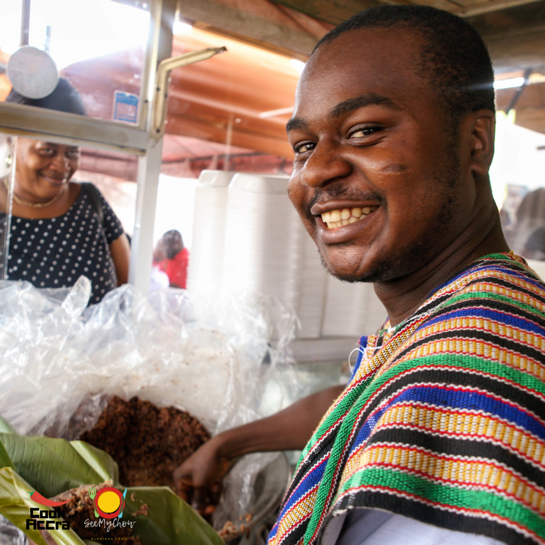 EatingAccra Hands-On Waakye Selling Experience