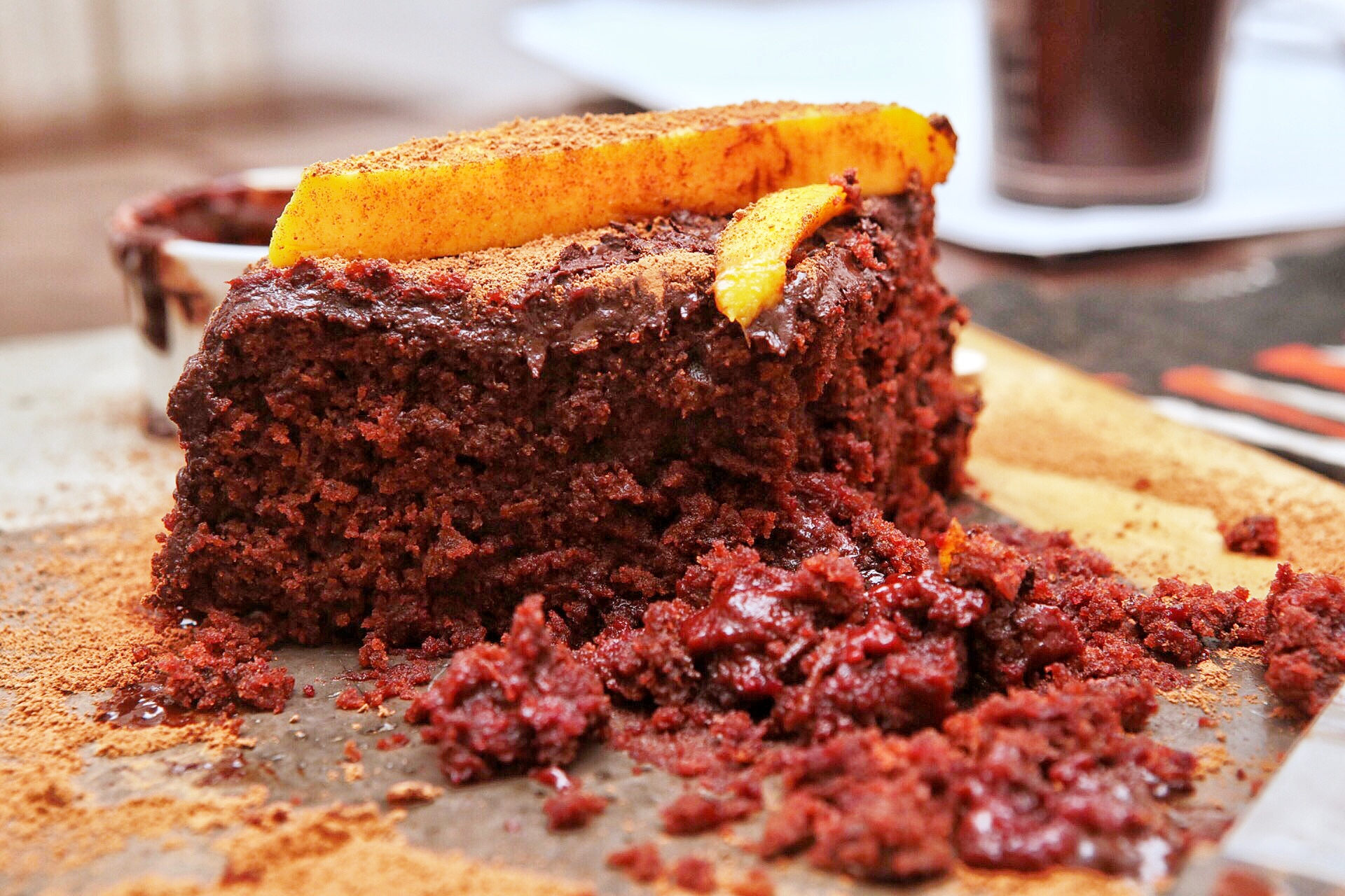 double chocolate beetroot cake