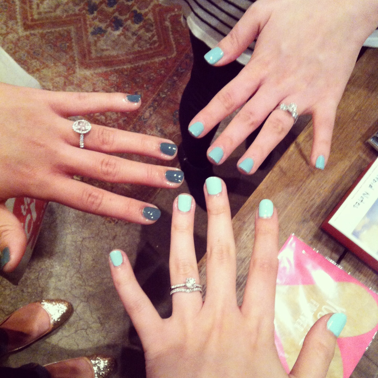 Ended the night by getting complimentary manicures by the ladies of  Olive and June