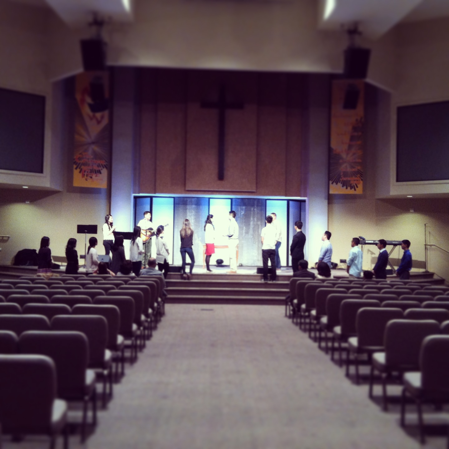 After lunch, we headed to Foster City to Central Peninsula Church for the wedding rehearsal.