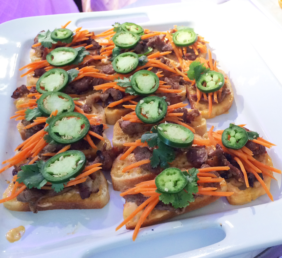 BBQ Pork Banhmi Crostini by  Banchan A La Carte