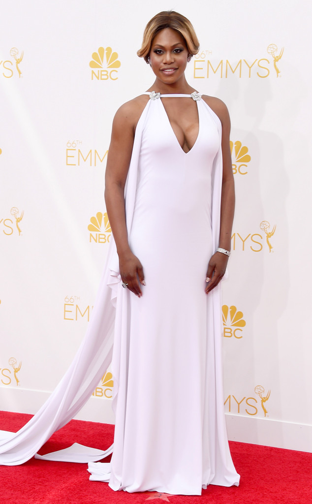 Loving this Marc Bouwer custom dress on Laverne Cox. I mean, did you see that train? Stunning!