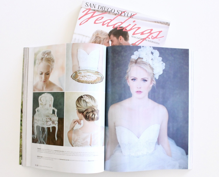Featured in SAN DIEGO STYLE WEDDINGS MAGAZINE