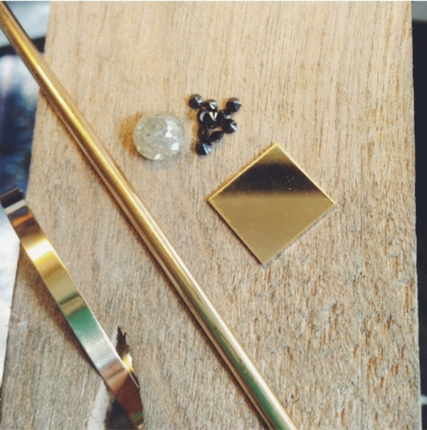 The raw materials for one of my favorite engagement rings I've ever made!