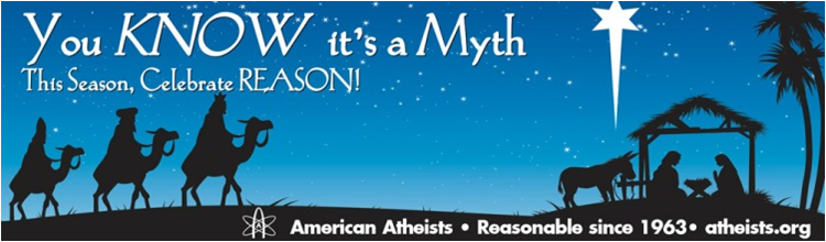 This is an actual billboard - Christian Holidays are under attack