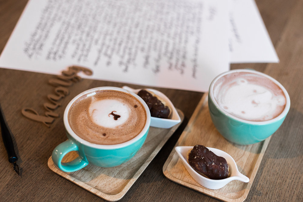 coffee + caligraphy