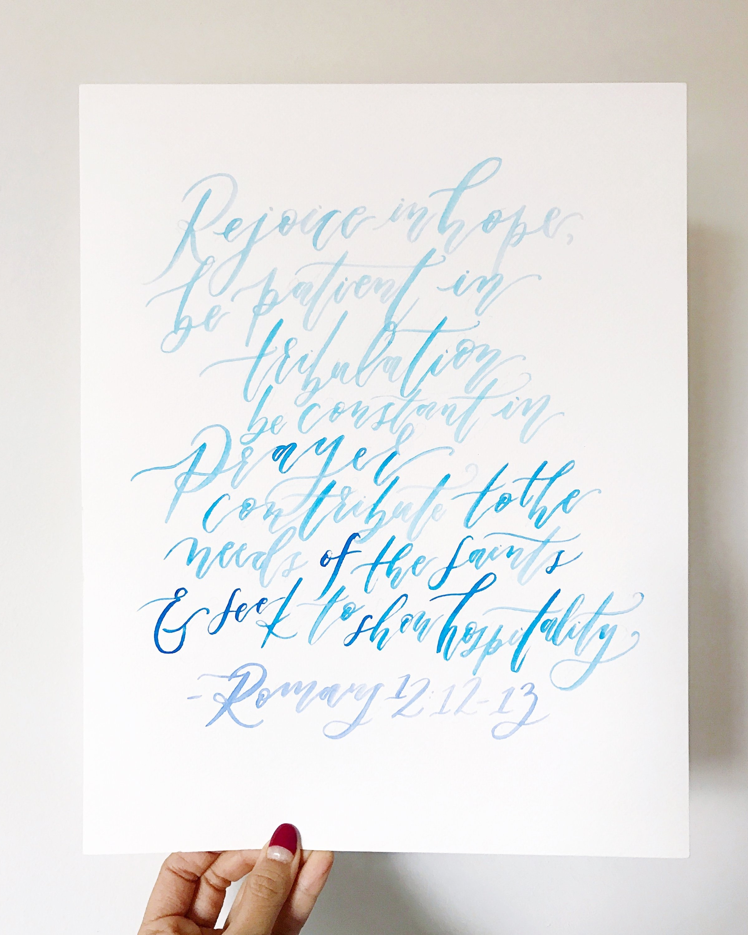 watercolor caligraphy