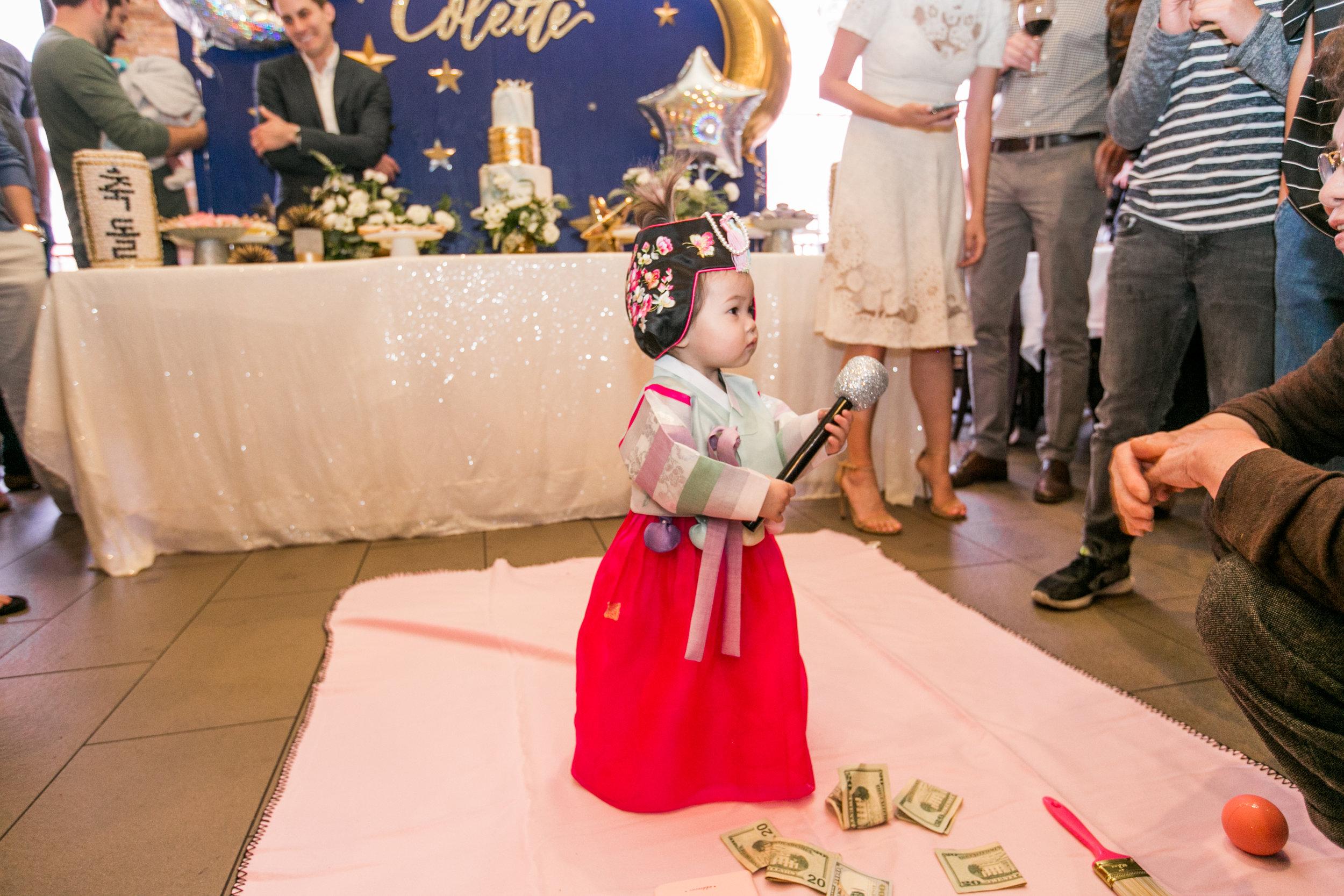 Korean traditional birthday party