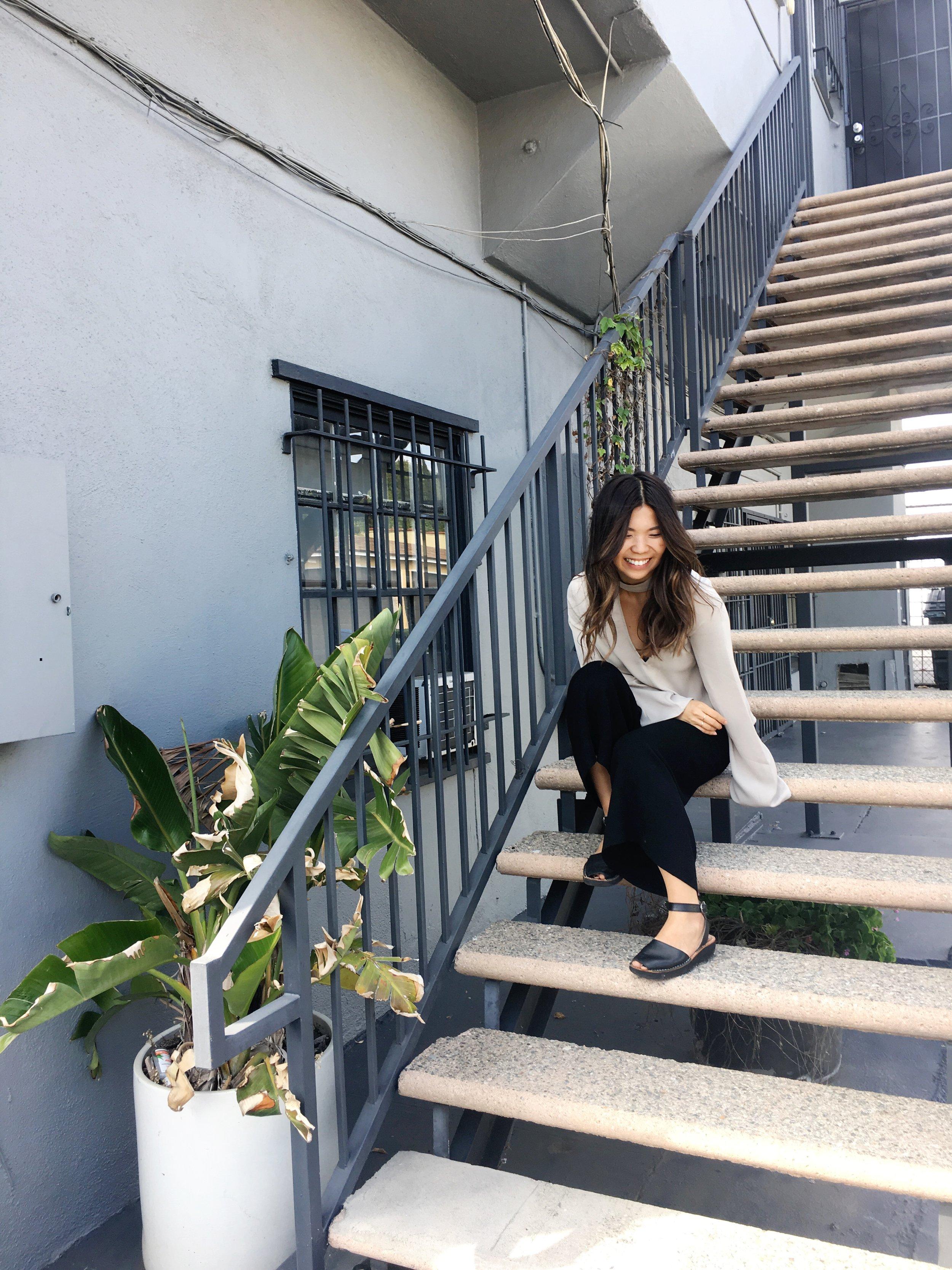 staircase photoshooot