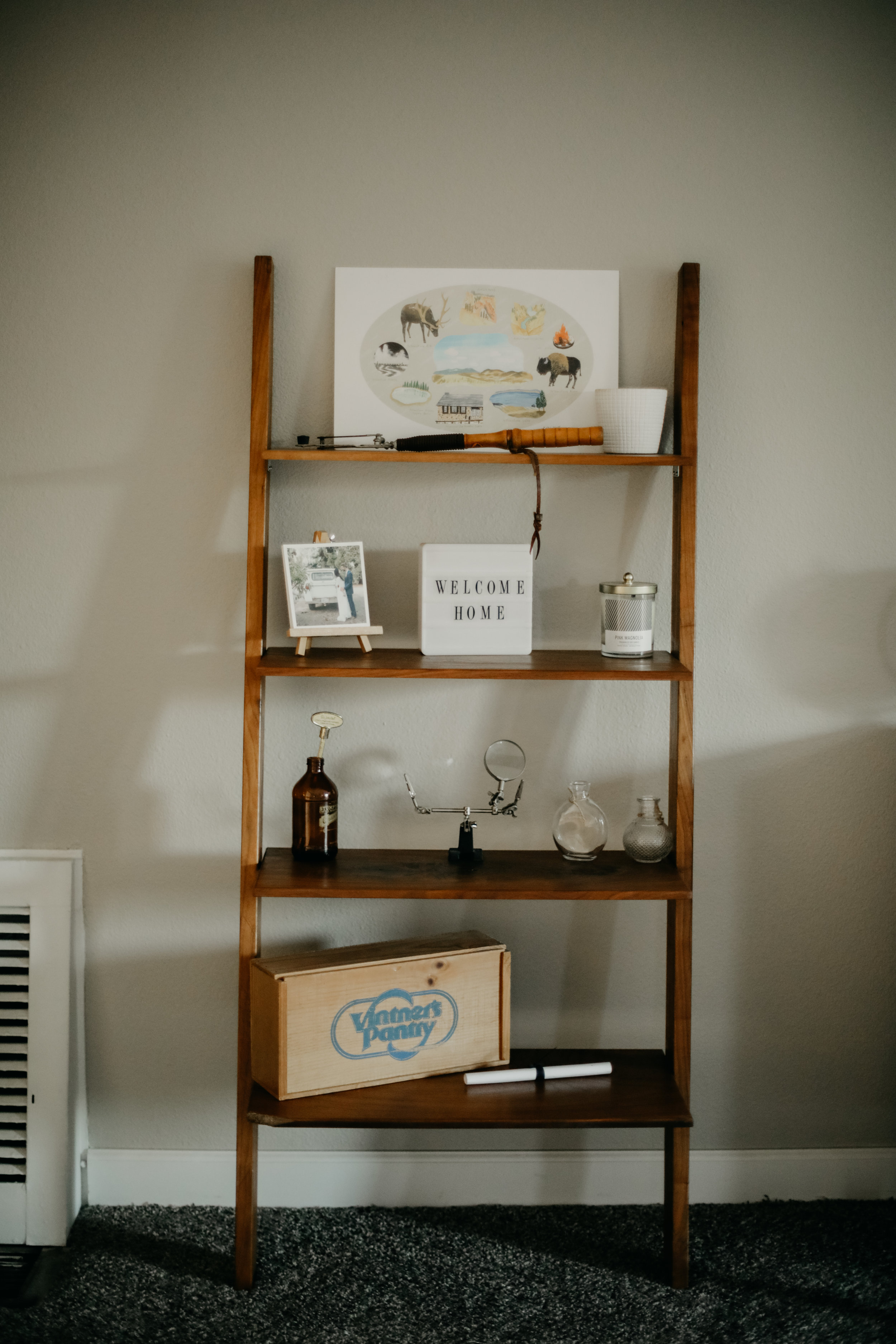 leaning ladder hipster home decor