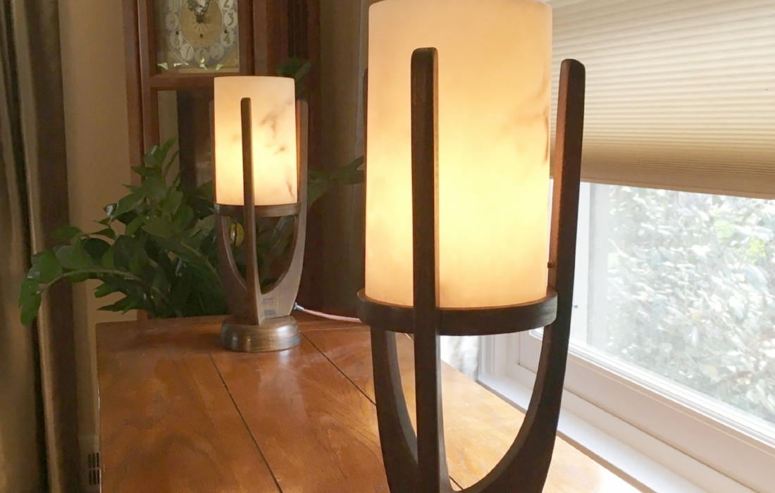 Custom Handmade Mid Century Table Lamps Photograph