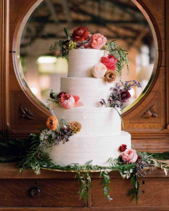 This Winter Wedding Cake was named one of  The 25 Best Wedding Cakes of 2015  by  Martha Stewart Weddings . Click on the photo to go directly to our Wedding Cake Gallery.