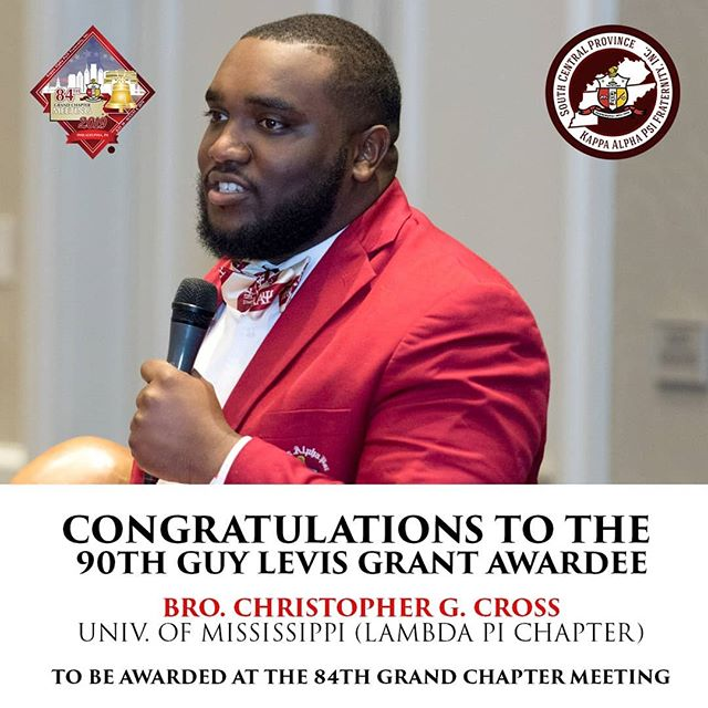 Congratulations to our Brothers Junior Grand Vice Polemarch Christopher G. Cross and Past Junior Grand Vice Polemarch Frank E. Burns Jr. for being awarded the Guy L. Grant Award!  The highest award for an undergraduate member for meritorious achievement! ♦️👌🏿 They will be awarded at this year's 84th Grand Chapter Meeting in Philadelphia, PA.
