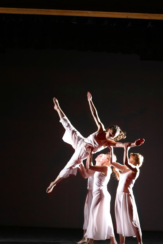 """Contemporary Dance Wyoming members in """"The Distance of Coming Home"""" 2003"""
