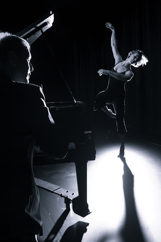 """Heidi Ramseur and Keith Phillips rehearsing """"Fall & Find,"""" 2011"""