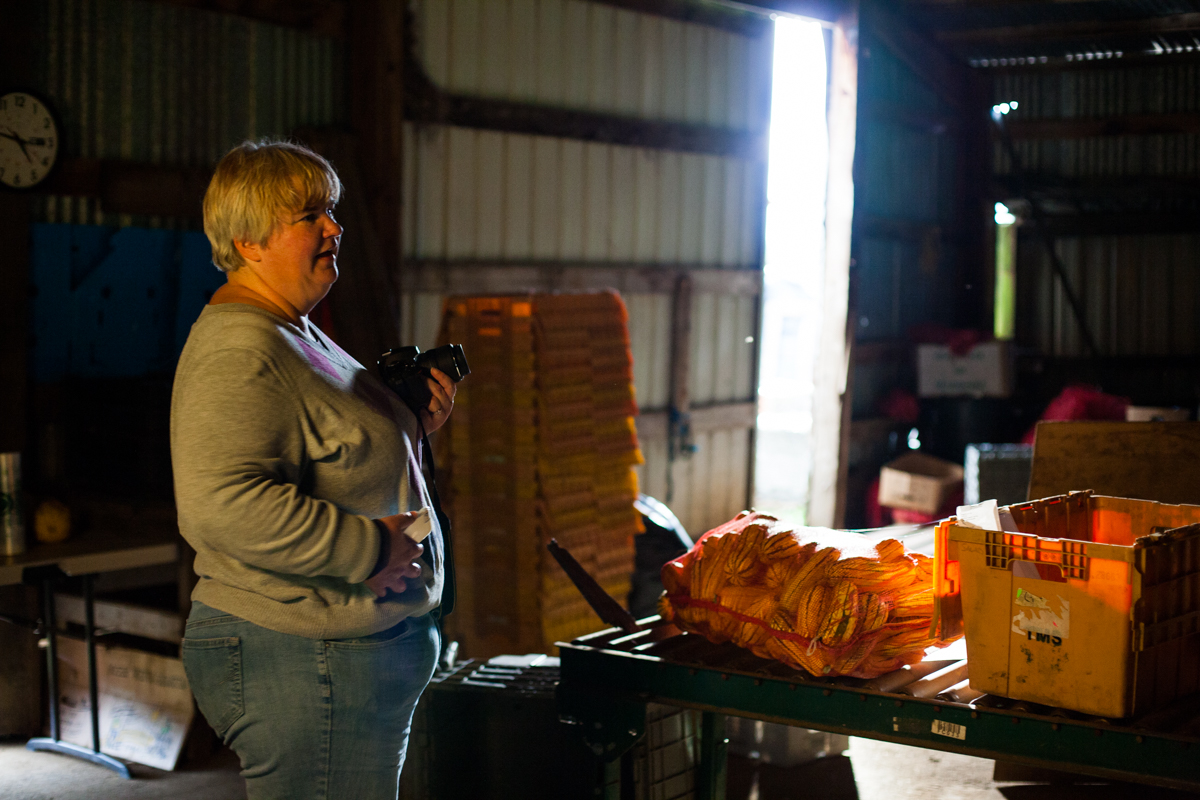 Vicky from Little Brown Farm captures light in the barn