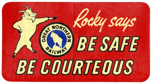 1950 Great Northern Sticker
